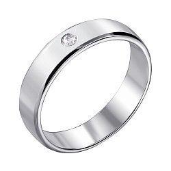 Обручальное кольцо из белого золота с бриллиантом 000140453