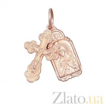 Серебряный крестик с ладанкой Заступничество 000028628