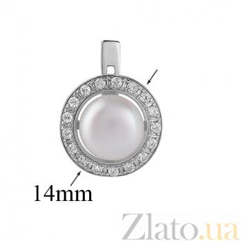 Серебряные серьги с жемчугом Кувшинка 2080р б жем