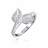 Серебряное кольцо Этэль с фианитами