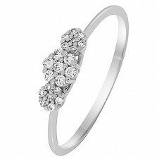 Кольцо в белом золоте Лия с бриллиантами