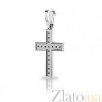 Крестик из белого золота Софья с бриллиантами VLA--33039