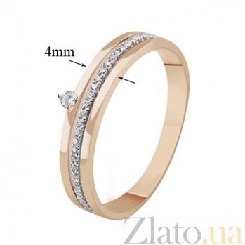 Золотое кольцо с бриллиантами Вдохновение KBL--К1012/комб/брил