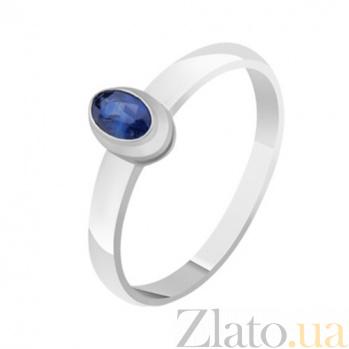 Золотое кольцо с сапфиром Василина KBL--К1117/бел/сапф