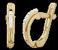 Позолоченные серебряные серьги с цирконием Инесса SLX--С3Ф/156