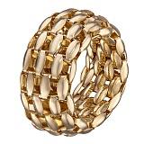 Кольцо Мир теней в желтом золоте