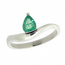 Серебряное кольцо с изумрудом Аин