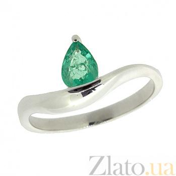 Серебряное кольцо с изумрудом Аин ZMX--RE-6921-Ag_K