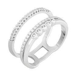 Серебряное кольцо Лусабер с цирконием 000033848