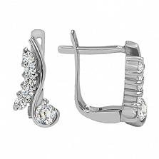 Серебряные серьги Мелисса с фианитами