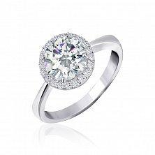 Серебряное кольцо Рашель с прозрачными фианитами