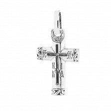 Серебряный крестик Преображение
