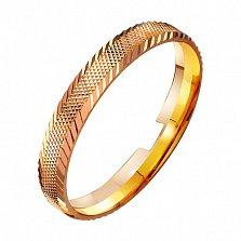 Золотое обручальное кольцо Романтика