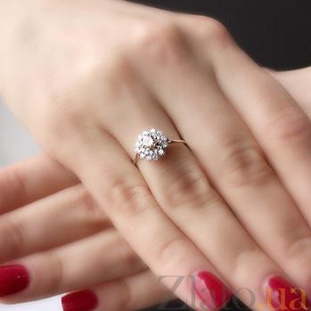 Золотое кольцо Мирабелла с бриллиантами 000045918
