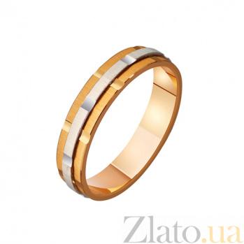 Обручальное кольцо из комбинированного золота Вечно влюблены TRF--421104