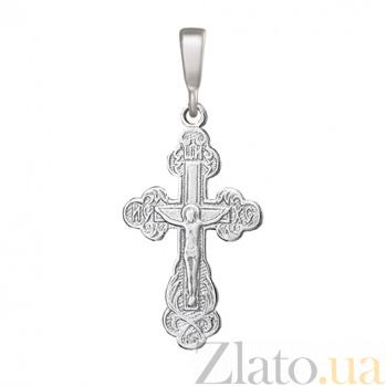 Серебряный крест Озарение 000025352