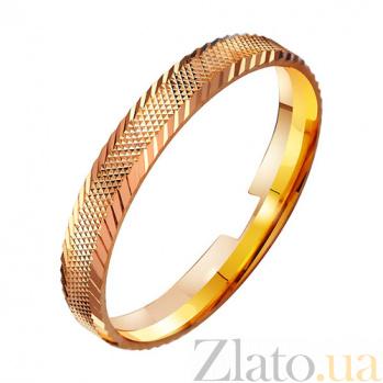 Золотое обручальное кольцо Романтика TRF--411022