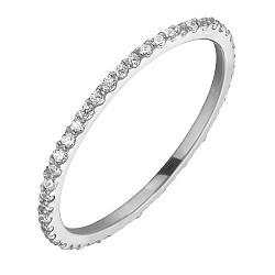 Кольцо из белого золота с фианитами Анджелин 000022552