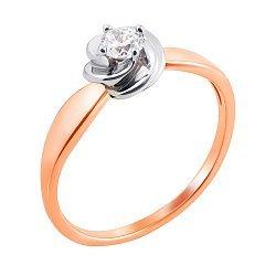 Золотое кольцо с фианитом 000012053