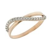 Золотое кольцо с цирконием Руслана