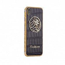 Apple iPhone XS Noblesse Bismillah Unique Edition в черной коже аллигатора и золоте