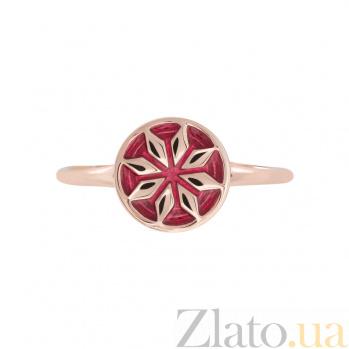 Золотое кольцо с эмалью Лайма 2К766-0003