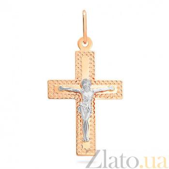 Золотой крестик Вечная любовь SUF--511902рш