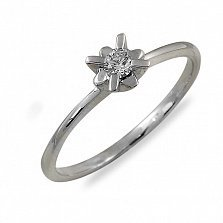 Кольцо из белого золота Марго с бриллиантом