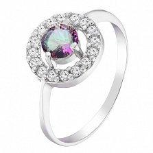 Серебряное кольцо Джулия с мистик кварцем и фианитами
