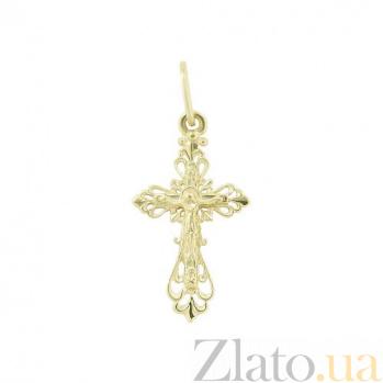 Золотой крестик Воскресенье 2П071-0006