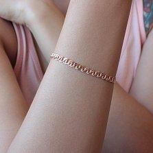 Золотой браслет Love, 4,5мм