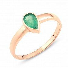 Золотое кольцо Лира с изумрудом