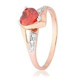 Кольцо из серебра с цирконием Страстная любовь