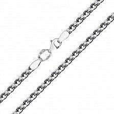 Серебряная цепь Кэмбридж с чернением