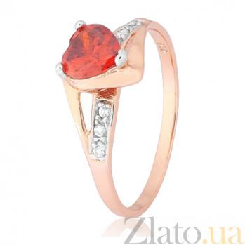 Кольцо из серебра с цирконием Страстная любовь 000028207