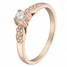 Золотое кольцо Фекла с бриллиантами