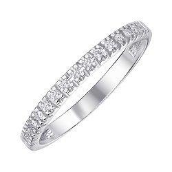 Кольцо из белого золота с бриллиантами 000141501