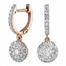 Золотые серьги Аманда с бриллиантами