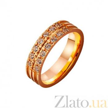 Золотое обручальное кольцо Дар свыше с фианитами TRF--4121183