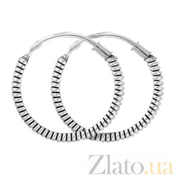 Серебряные серьги-кольца Аддитри SLX--С5/337