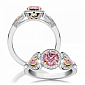 Кольцо Argile из белого и розового золота с бриллиантами и розовыми сапфирами R-cjAr-W/R-3s-90d