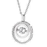 Серебряное колье Эрионна с цирконием