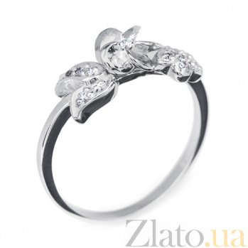 Кольцо из белого золота с бриллиантами Libra 000010440