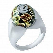 Серебряное кольцо Розарий с цветной эмалью