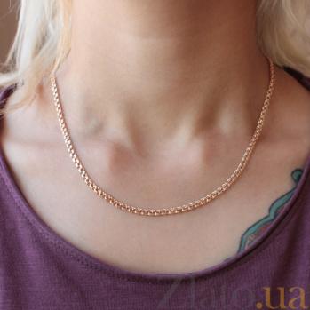 Золотая цепочка Бисмарк с алмазной гранью, 3,5мм EDM--Ц013-3