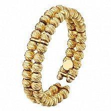 Золотое кольцо Бусины в желтом цвете