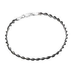 Браслет из серебра с чернением, 2,5 мм 000026021