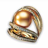 Кольцо Baruch с золотистым жемчугом