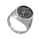 Кольцо из белого золота Святая Татьяна