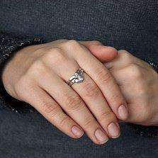 Серебряное кольцо Диадема с фианитами